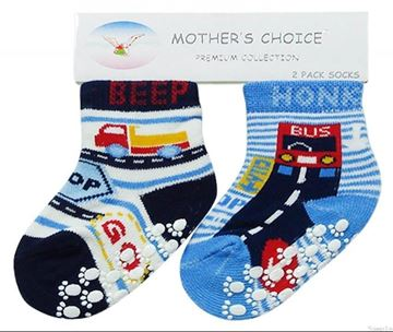 Picture of Boy's 2 Pack Non Slip Socks Beep Beep