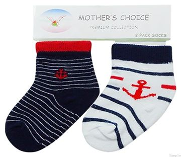 Picture of Boy's 2 Pack Socks Sailor