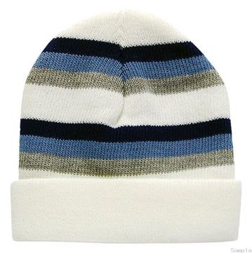 "Picture of Infant Boys Winter Hat ""White/Stripe"""