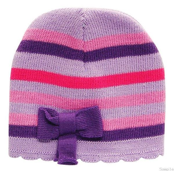 Picture of Infant Girls Winter Hat With Lilac Bow