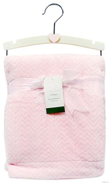 Picture of Jacquard Valour Blanket Pink
