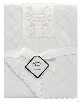 Picture of Nana Baby Blanket White