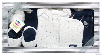 "Picture of Infants 6Pc Grower Gift Set ""Born To Play Ball"" - Dark Blue"