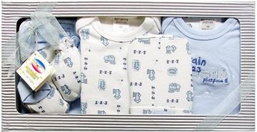 "Picture of Infants 6Pc Grower Gift Set ""Train 123"" - Light Blue"