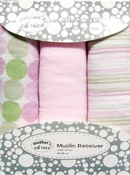 Picture of 3 Pack Muslin Wraps - Pink