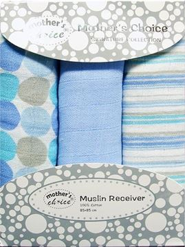 Picture of 3 Pack Muslin Wraps - Blue