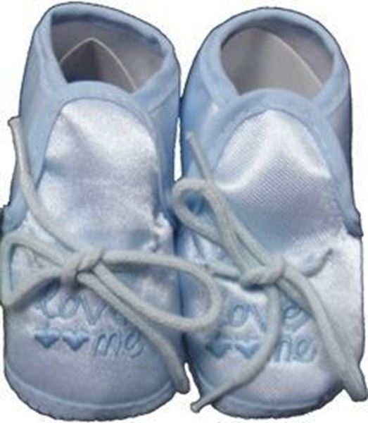 "Picture of ""Love Me"" Booties - Sky Blue"