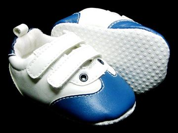 Picture of Infant Boy's Valcro Shoe Blue & White