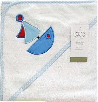 Picture of 100% Cotton Hooded Towel - Blue Boat