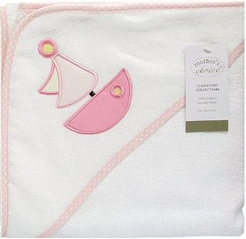 Picture of 100% Cotton Hooded Towel - Pink Boat