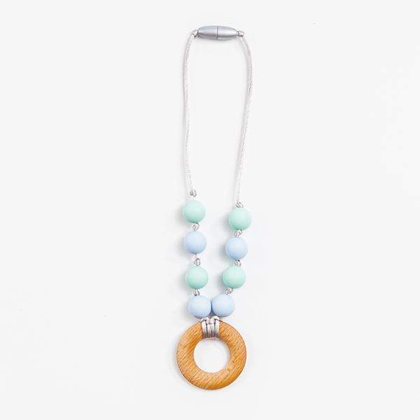 Picture of Toddler Necklace - Funky blue and turquoise