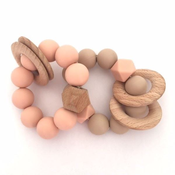 Picture of Teething rattle - peach