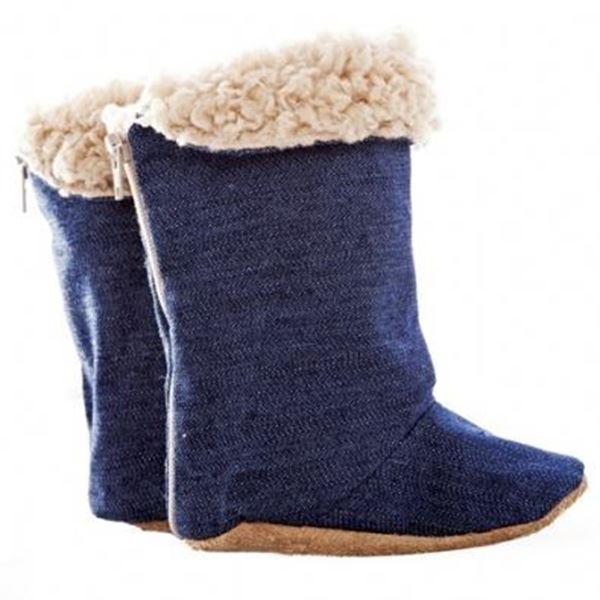 Picture of Boots Unisex- Denim & Beige Sheepskin