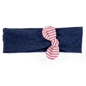 Picture of Headband - Navy with Nautical Bow
