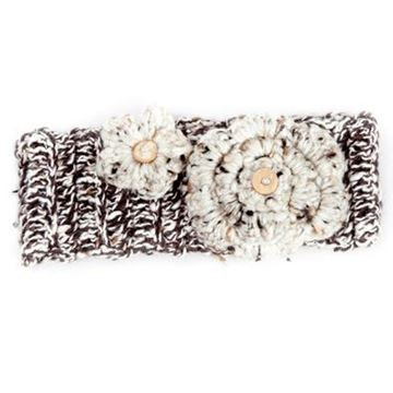 Picture of Winter Headband - Brown Speckled with Flower