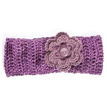 Picture of Headband - Purple with Flower