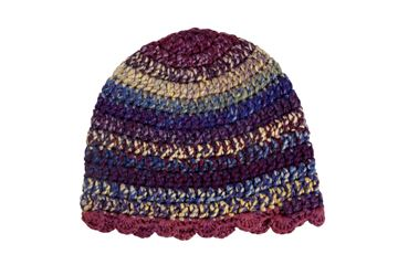 Picture of Beanie - Plum Stripes