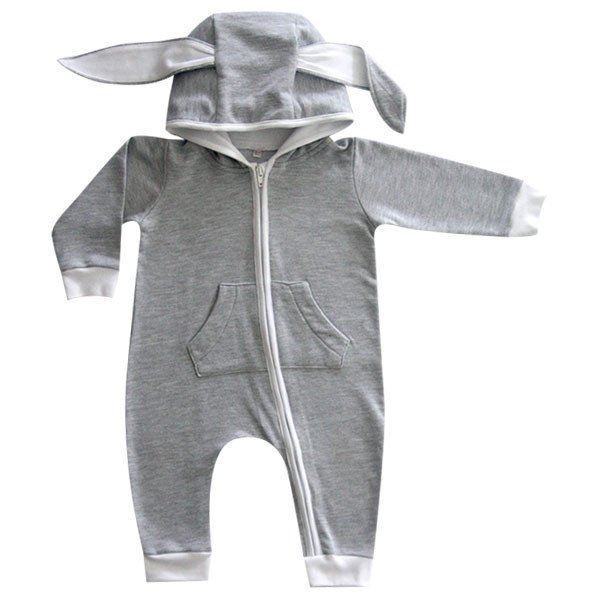Picture of Bunny Onesie - Light Grey