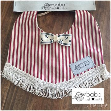 Picture of Vintage Bib - Sailor with bow
