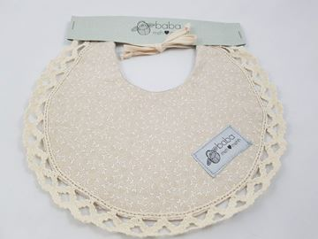 Picture of Vintage Bib -  Gorgeous nude with lace edging