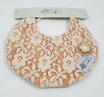 Picture of Vintage Bib -  Fully laced with flower detail