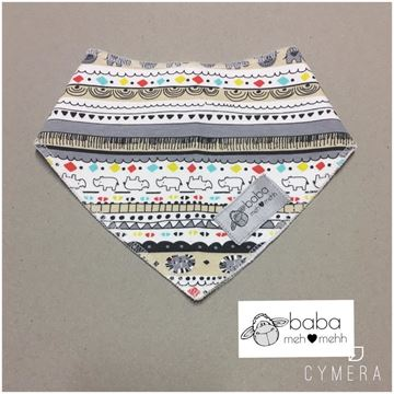 Picture of Bandana Bibs - Funky grey / beige