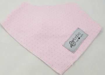 Picture of Bandana Bibs - Pink with dots