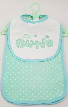 Picture of Bib & Burper Set Green