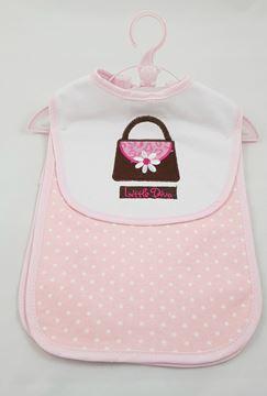 Picture of Bib & Burper Set Pink