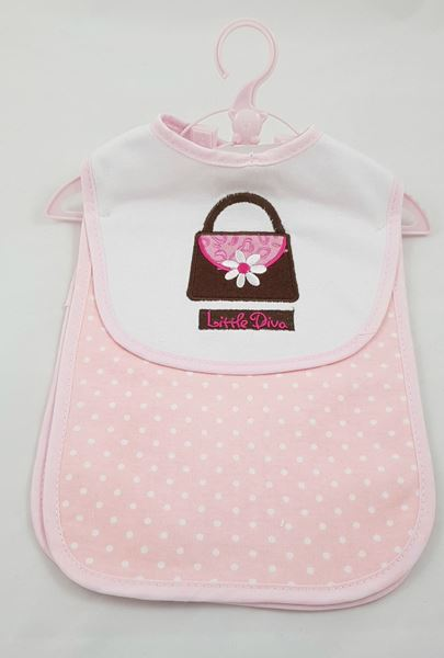Picture of Bib & Burper Set Pink