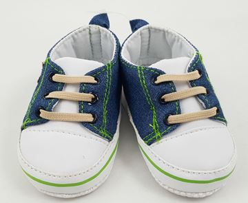 Picture of Boy's Denim Lace Up 'Star' - With White