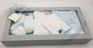 "Picture of Infants 6Pc Grower Gift Set ""Born To Play Ball"" - Light Blue"