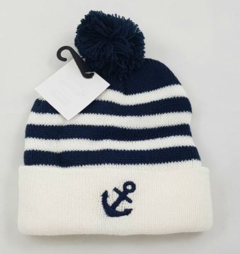 "Picture of Infants Winter Hat ""Sailor"" Navy"