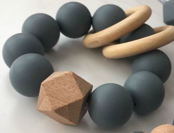 Picture of Teething rattle - Grey